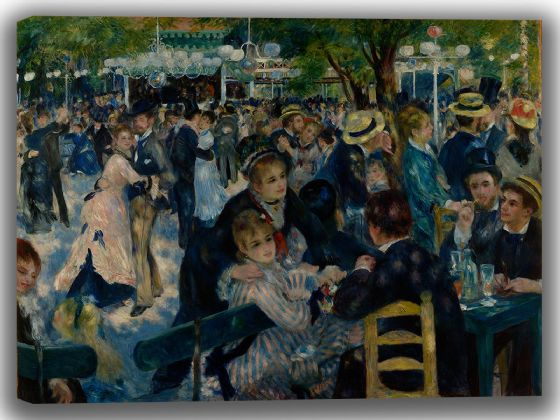 Renoir, Pierre Auguste: Dance at Le Moulin de la Galette. Fine Art Canvas. Sizes: A4/A3/A2/A1 (004110)